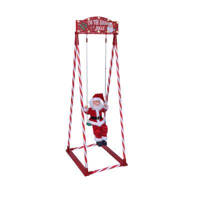 "Mr. Christmas 56""H Swinging Santa , , default"