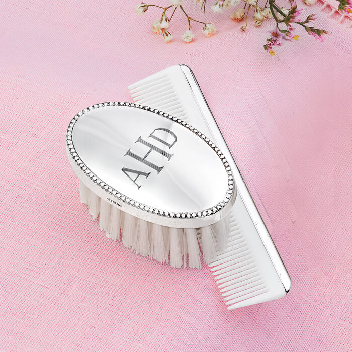 Empire Child's Personalized Sterling Silver Brush and Comb Set