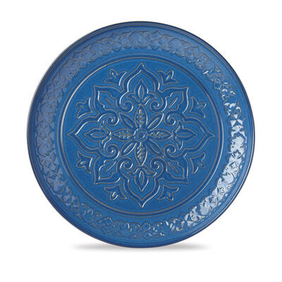"Lenox ""Global Tapestry"" Blue Porcelain Round Serving Platter, , default"