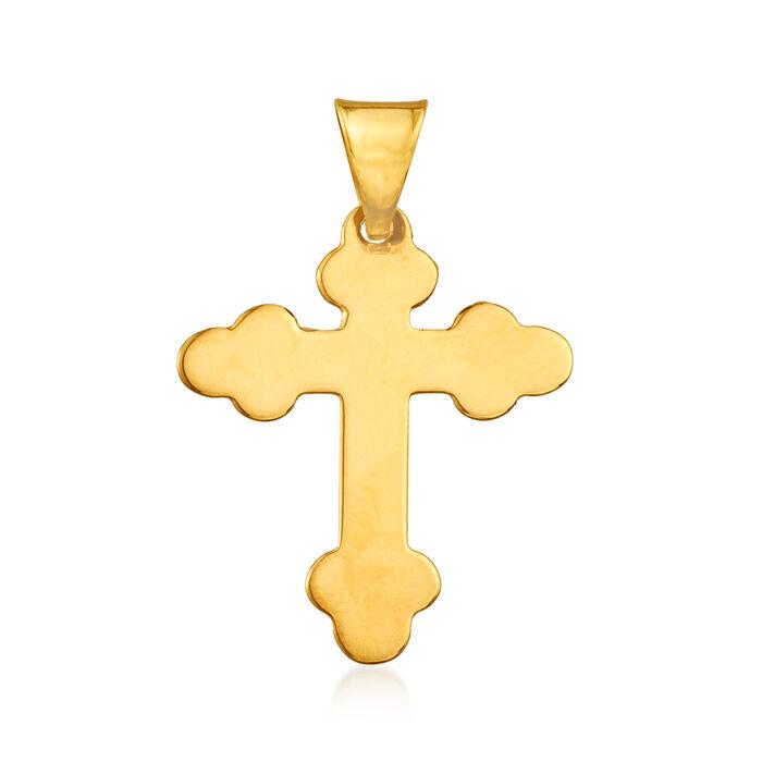 Italian 14kt Yellow Gold Cross Pendant, , default