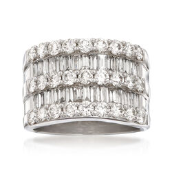 3.45 ct. t.w. Diamond Wide Band Ring in 14kt White Gold, , default