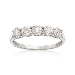 1.00 ct. t.w. Diamond Five-Stone Ring in Platinum, , default