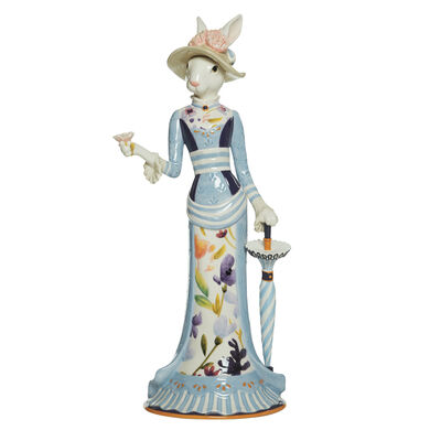 "Fitz and Floyd ""Floral Splash"" Female Rabbit Figurine, , default"