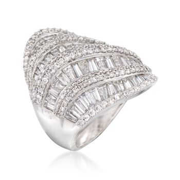 5.00 ct. t.w. Baguette and Round Diamond Ring in 14kt White Gold, , default