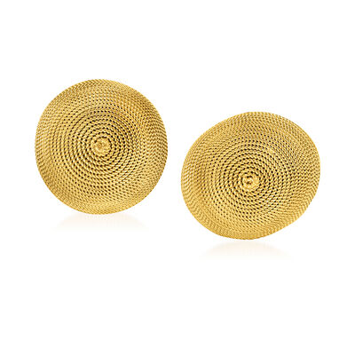 C. 1980 Vintage 18kt Yellow Gold Dome Earrings