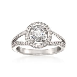 Simon G. .34 ct. t.w. Diamond Engagement Ring Setting in 18kt White Gold, , default
