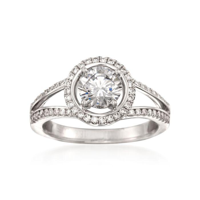 Simon G. .34 ct. t.w. Diamond Engagement Ring Setting in ... - photo #48