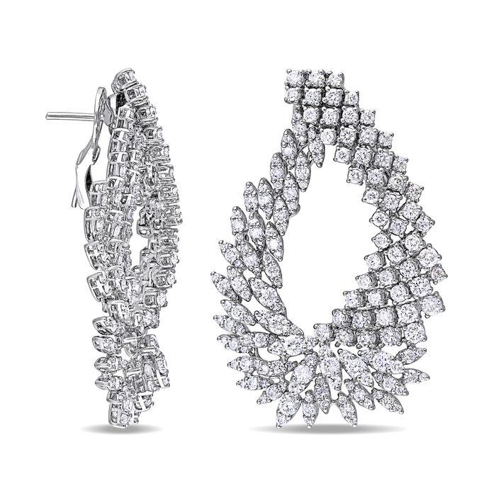 8.70 ct. t.w. Diamond Cluster Earrings in 18kt White Gold
