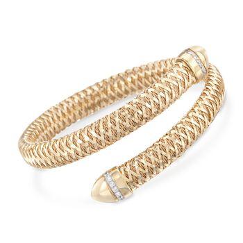 "Roberto Coin ""Primavera"" .20 ct. t.w. Diamond Flex Bracelet in 18kt Yellow Gold. 7"", , default"