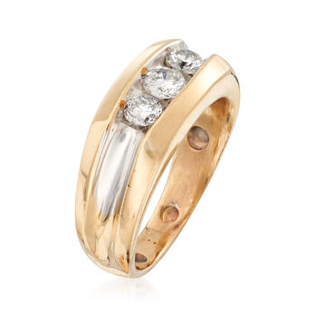 C. 1980 Vintage .60 ct. t.w. Diamond Band in 14kt Yellow Gold. Size 6.5, , default