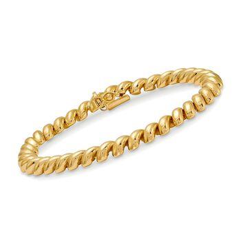 "14kt Yellow Gold San Marco Bracelet. 7"", , default"