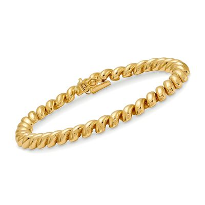 14kt Yellow Gold San Marco Bracelet, , default