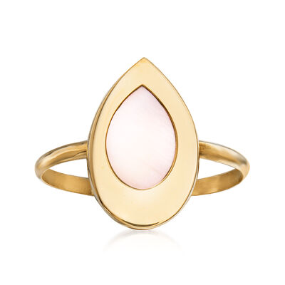 Italian Mother-Of-Pearl Ring in 14kt Yellow Gold