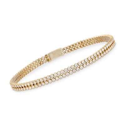 3.50 ct. t.w. CZ Bracelet in 14kt Yellow Gold, , default