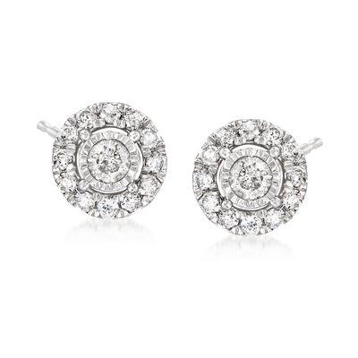 1.00 ct. t.w. Diamond Earrings in Sterling Silver