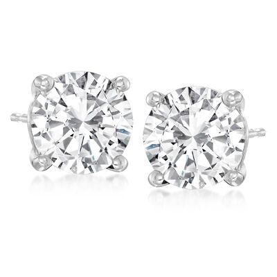 5.00 ct. t.w. Diamond Stud Earrings in 14kt White Gold