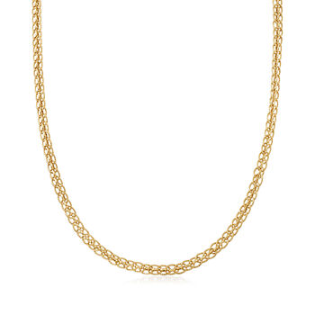 14kt Yellow Gold Oval-Link Necklace