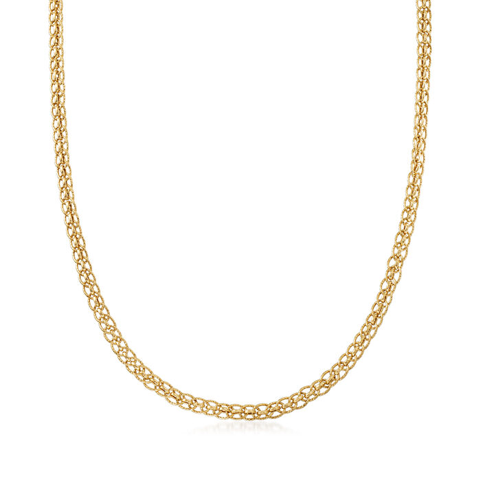 14kt Yellow Gold Oval-Link Necklace, , default