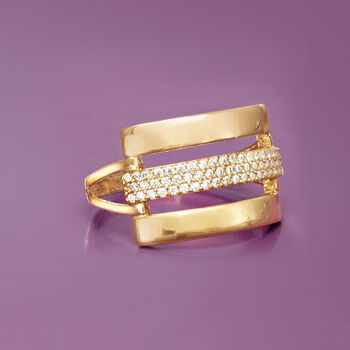 .28 ct. t.w. CZ Multi-Row Ring in 14k Yellow Gold, , default