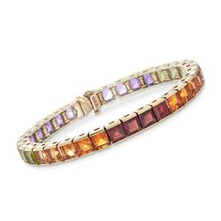 "C. 1980 Vintage 19.50 ct. t.w. Multi-Stone Bracelet in 14kt Yellow Gold. 6.75"", , default"