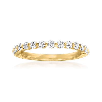 Henri Daussi .45 ct. t.w. Diamond Wedding Ring in 18kt Yellow Gold