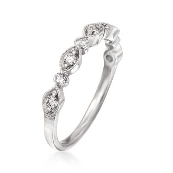 Henri Daussi .30 ct. t.w. Diamond Wedding Ring in 18kt White Gold, , default