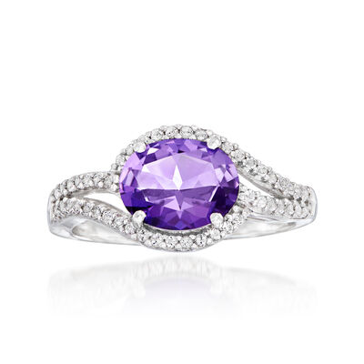 Swarovski Crystal 1.80 ct. t.w. Purple and White Topaz Ring in Sterling Silver, , default