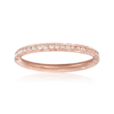 .70 ct. t.w. CZ Ring in 14kt Rose Gold, , default