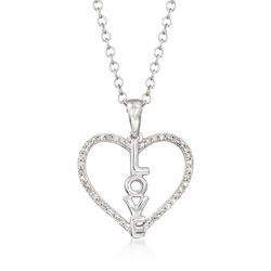 .10 ct. t.w. Diamond Heart Love Pendant Necklace, , default