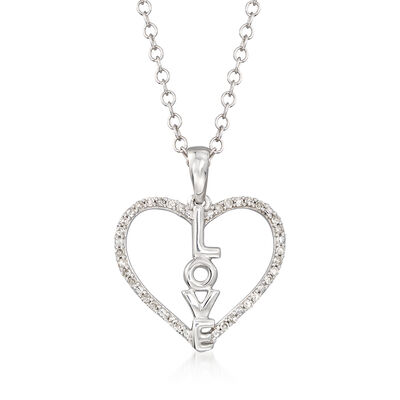 .10 ct. t.w. Diamond Heart Love Pendant Necklace, , default