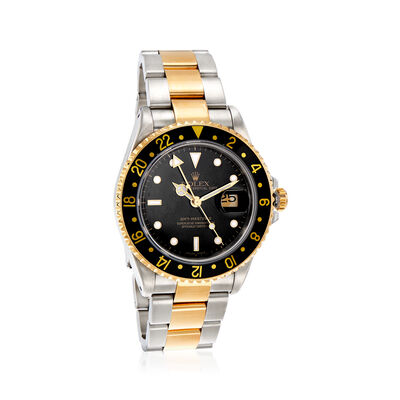 Pre-Owned Rolex Gmt-Master II Men's 40mm Automatic Stainless Steel Watch with 18kt Yellow Gold