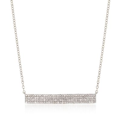 .50 ct. t.w. Diamond Bar Necklace in 14kt White Gold, , default