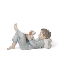 "Lladro ""Shall I Read You a Story?"" Porcelain Figurine, , default"