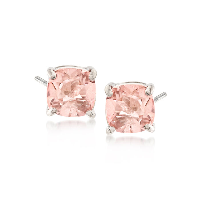 2.20 ct. t.w. Light Pink Topaz Stud Earrings in Sterling Silver