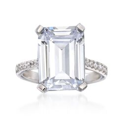 8.20 ct. t.w. CZ Ring in Sterling Silver, , default