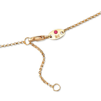 "Roberto Coin ""Pois Moi"" Square Drop Necklace in 18kt Yellow Gold. 16.5"", , default"