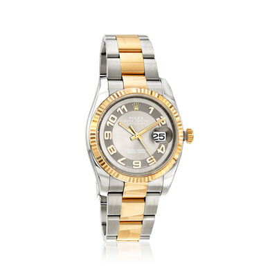 Pre-Owned Rolex Datejust Men's 36mm Automatic Stainless Steel Watch with 18kt Yellow Gold, , default