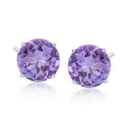 6.25 ct. t.w. Amethyst Stud Earrings in 14kt White Gold, , default
