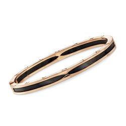 C. 2017 Bulgari Onyx 18kt Yellow Gold Bracelet, , default