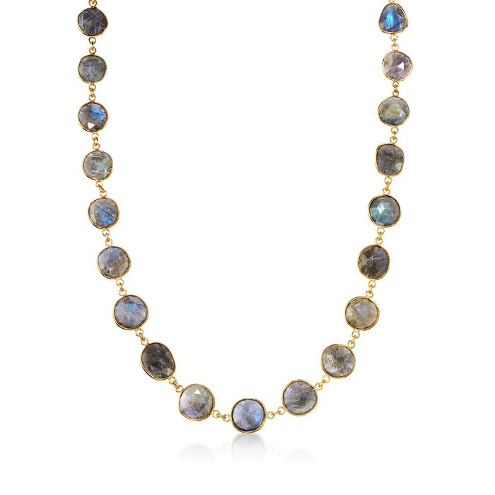 Labradorite Necklace in 14kt Gold Over Sterling Silver, , default