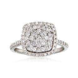 1.00 ct. t.w. Diamond Illusion Ring in 14kt White Gold, , default