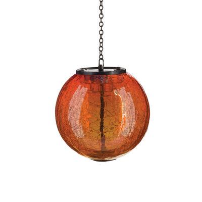 Regal Set of 2 Orange Globe Solar Lanterns, , default