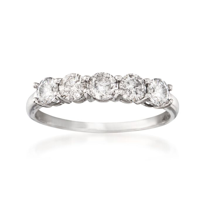 .50 ct. t.w. Diamond Five-Stone Ring in 14kt White Gold