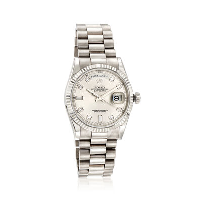 Pre-Owned Rolex Day-Date Men's 36mm Automatic 18kt White Gold Watch, , default