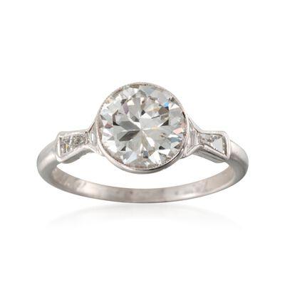 C. 2000 Vintage 2.27 ct. t.w. Certified Diamond Ring in Platinum, , default