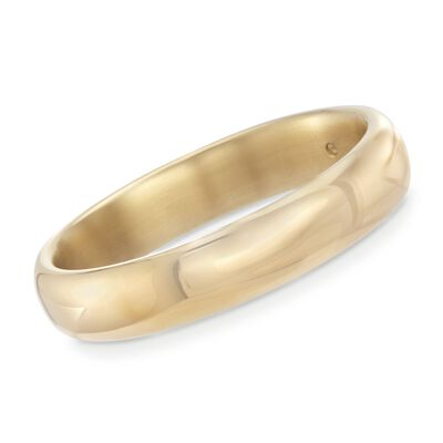 Andiamo 14kt Yellow Gold Wide Bangle Bracelet, , default