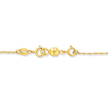Italian Set of Two Small Magnetic Clasp Converters: 14kt Yellow Gold and 14kt White Gold