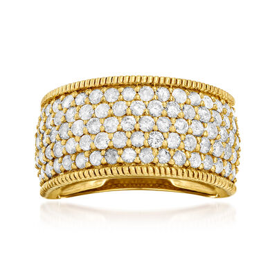 2.00 ct. t.w. Diamond Ring in 18kt Gold Over Sterling