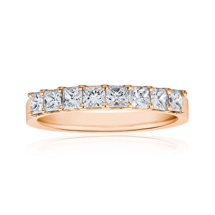 1.60 ct. t.w. Princess-Cut Diamond Ring in 14kt Rose Gold, , default
