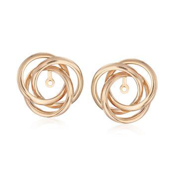 14kt Yellow Gold Open Swirl Earring Jackets , , default